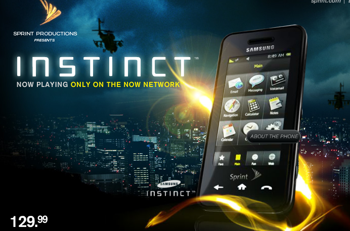 samsung instinct wallpaper. Samsung Instinct is differ