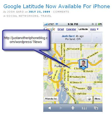 Google Lattitude For iPhone